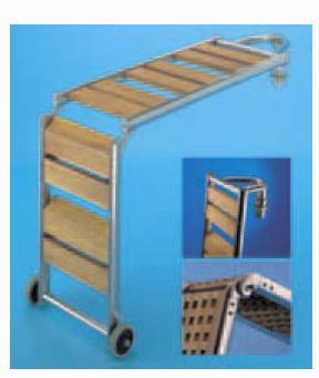 Сгъваема стълба от неръждаема стомана