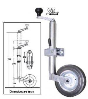 Подемно устройство за ремарке с върток - 360кг
